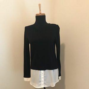 Loft layered sweater size small petite